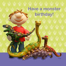 Have A Monster Birthday Children's Birthday Card Ferdie & Friends Greeting Cards