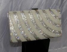 Glitzer Damen Tasche Clutch Strasssteine Handtasche Party Abendtasche021-9