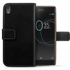 Genuine Leather Wallet Case For The Sony Xperia XA1 2017 Best Flip Folio Cover