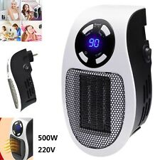 500W Heater Warmer Portable Plug-in Electric Wall-outlet Small Space Heating Fan