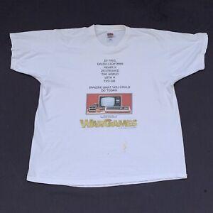 Vintage WarGames Movie Promo T-Shirt TRS-80 Radio Shack Computer Video Game XL