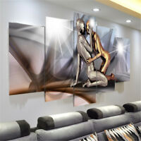 5 Panels Modern Huge Man&Lady Canvas Prints Wall Art Painting Picture Home Decor