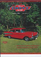 FEBRUARY 1990 Classic Chevy World 1955 1956 1957 SEDAN 1-4 WINDOW RESTORATION