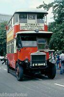 London Transport YR3844 Hyde Park 1979 Bus Photo