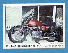 MOTO 2000 - Panini 1972 -Figurina-Sticker n. 56 - BSA THUNDERBOLT A 65T 650 -Rec