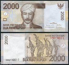 INDONESIA 2000 Rupias 2009 Pick 148a  SC  /  UNC