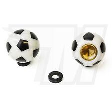 2x Tapón De La Válvula AUS plástico para Neumáticos coche, Fútbol en blanco