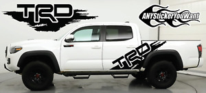 (x2) Trd Pro Distressed Graphic Vinyl Decal Fits Toyota Tacoma Trd Pro