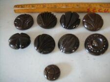 Antique Vintage Carved Bakelite Button Large Lot