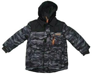 ZEROXPOSUR Boy Jacket 5/6 7/8 10/12 14/16 Snowboarding Grey Camo Headband