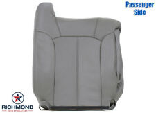 00-02 Chevy Tahoe OnStar TV/DVD Bose-PASSENGER LEAN BACK Leather Seat Cover GRAY