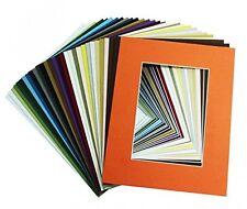 Pack of 25 11x14 Various Colors Mats with WhiteCore for 8x10 +Backing +Bags
