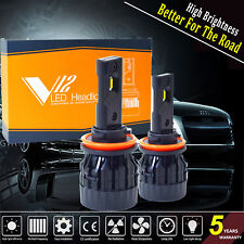 Cree CSP LED Headlight Kit H8 H9 H11 Bulbs Hi/Low Beam Light 120W 12800LM 6000K