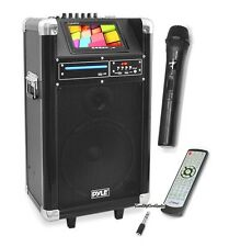 "NEW Pyle PKRK10 400W 10"" Karaoke BLUETOOTH Speaker Built-In 7"" DVD Player & MIC"