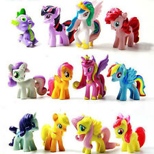 12 Pcs My Little Pony Cake Toppers PVC Mini Action Figures Girl Toys
