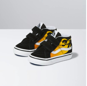 Vans SK8-Mid Reissue V Hot Flame Black / True White Toddlers Shoes New In Box