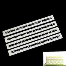 4pcs Geometry plastic fondant cookies cutter cake decorating tools fondanBRBC