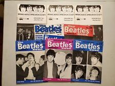 THE BEATLES BOOK MONTHLY & Appreciation Society Magazines - Lot of 8 ISSUES VF