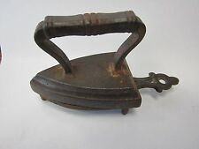 "MINIATURE CAST IRON - SAD IRON AND TRIVET - 4.5"" LONG TRIVET"