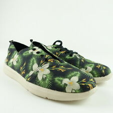 TOMS Men Size 9 Floral Print Lace Up Sneakers Shoes