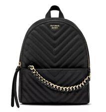 Victoria's Secret V-Quilt City Mini Backpack Black Color, New.