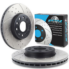 FRONT DRILLED GROOVED 288mm BRAKE DISCS FOR AUDI A3 1.2 1.4 1.6 TFSI TDI 08+