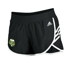 Portland Timbers MLS Adidas Women's Black 3-Strie Woven Shorts