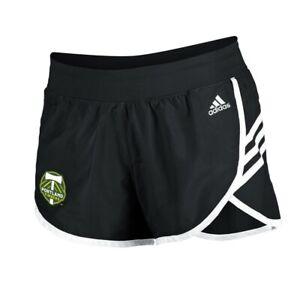 Portland Timbers MLS Adidas Women's Black 3-Strie Woven Shorts