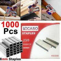 1000pc 8 mm Agrafes Agrafeuse Pack de 1000 Upholstery Stapler Heavy Duty