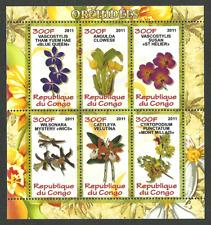 CONGO 2011 FLOWERS ORCHIDS M/SHEET MNH