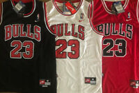 Men's/Youth #23 Michael Jordan Chicago Bulls RED/WHITE/BLACK Stitched Jersey