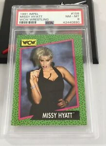 Missy Hyatt 1991 Impel Wrestling Wcw Rookie Card #158 Psa 8 Low Pop