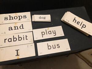 Vintage Primary School Spelling Cards Set 1 Upper Lower Case Learning Decorative