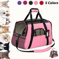 Pet Dog Cat Carrier Portable Travel Bag Soft Sided Comfort Case Airline Approved