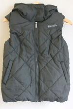 Bench Womens Jacket TRICKSTER BLKA160 Hooded Sleeveless Puffer GILET Bodywarmer