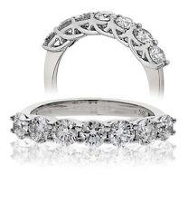 18CT WHITE GOLD 0.33CT GSI DIAMONDS 7 STONE HALF ETERNITY LADY RING GOY179