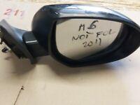2011 MAZDA 6 5 DOOR  DRIVER SIDE ELECTRIC (NOT POWERFOLD) DOOR WING MIRROR BLACK