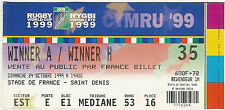 South Africa v England - quarter final 24 Oct 1999 Paris RUGBY WORLD CUP TICKET