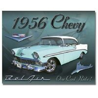 Chevrolet Bel Air Chevy Muscle Retro Garage Shop Wall Art Decor Metal Tin Sign