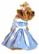 Dog Clothes CUTE Summer Holiday Blue Denim & Daisy Dress for Dogs Puppy Puppies