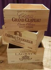 3 PACK FRENCH WOODEN WINE CRATE BOX- STORAGE / CHRISTMAS HAMPER GIFT BOX PRESENT