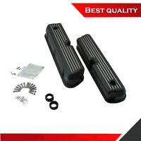 Aluminum Valve Covers Flames W//Hole Black for Small Block ford 302//351