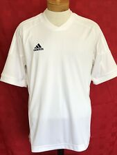 New Adidas White on White Climacool soccer Jersey size Large dry fit