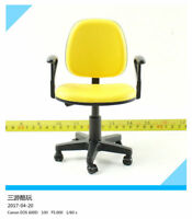 "1/6 Scale Yellow Swivel Chair Model Sofa Toy For 12"" Action Figure Doll"