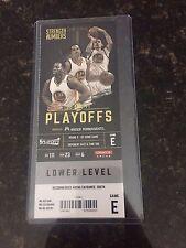 2017 NBA Playoffs Golden State Warriors vs Utah Jazz 5/2 Game 1 Ticket Stub MINT