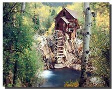 Dead Horse Mill Colorado with Aspen Tree Scenery Landscape Art Print (16x20)