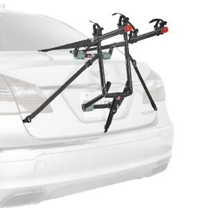 2 Bicycle Trunk Mounted Bike Rack Carrier Durable Padded Lower Frame Black