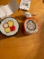 """$10 Kurt Adler Christmas  Ornament 2 Rolls Is Sushi  2"""" B2020e"""