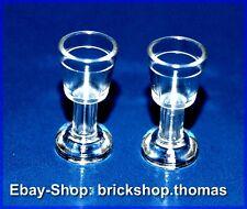 Lego 2 x transparente Kelche Becher Glas / trans Goblet  - 2343 - NEU / NEW