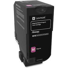 Lexmark Rtn Toner Cartridge f/CS720/5 CX725 3000 Pg Yield MA 74C10M0
